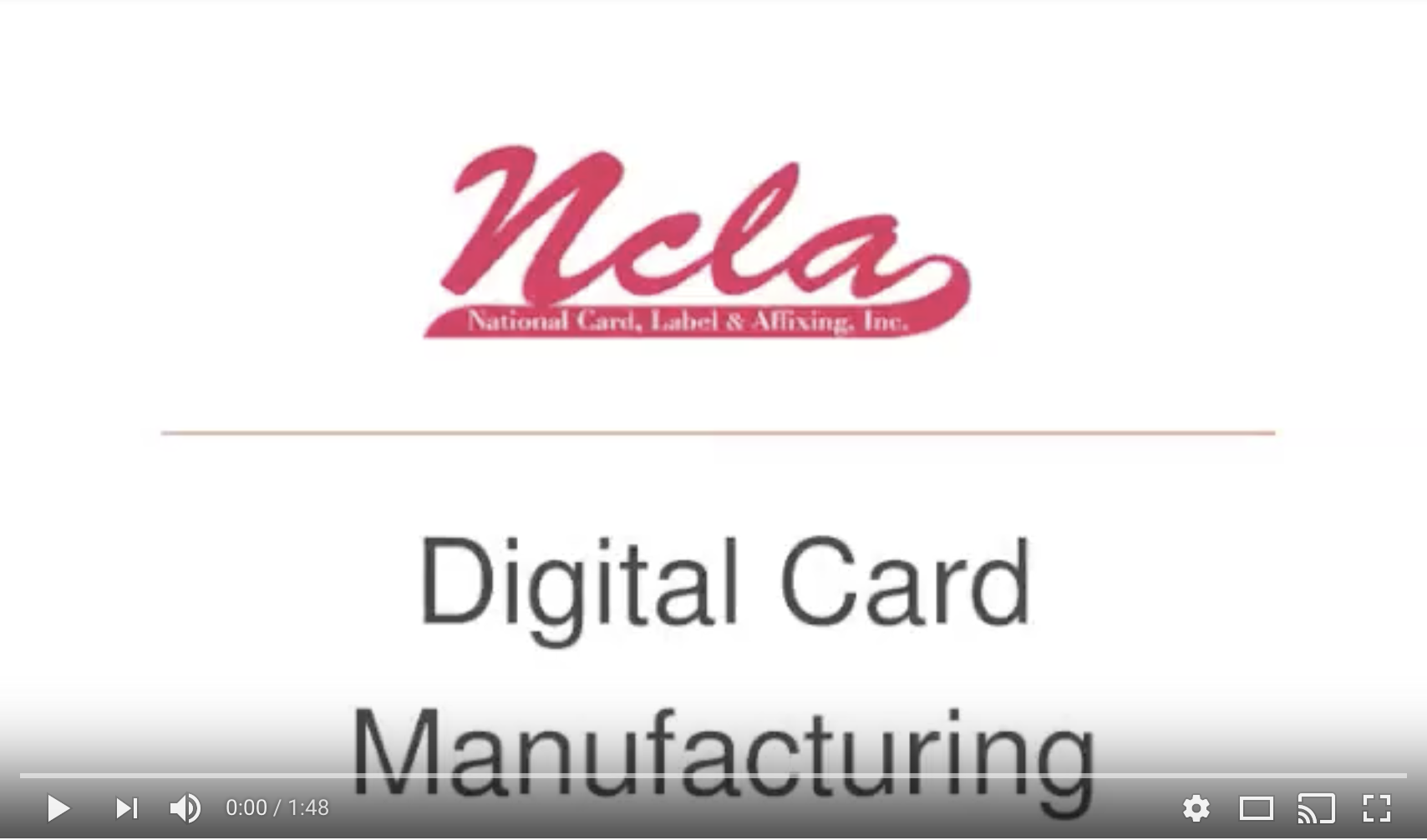 Digital Card Manufacturing